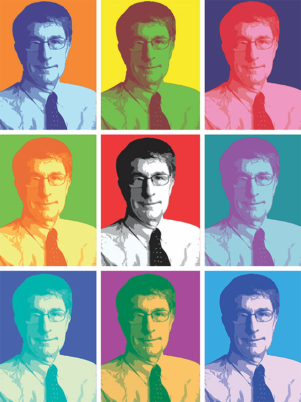 Howard Gardner in pop art style