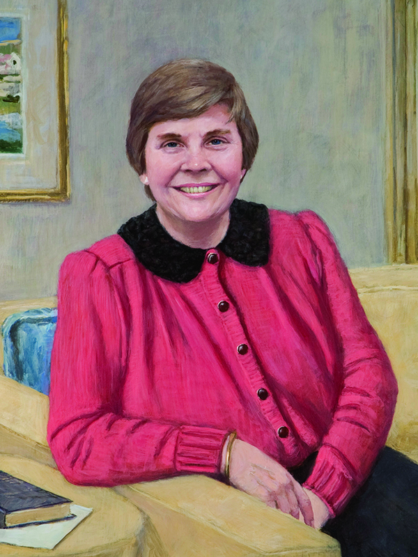 Painting of Dean Patricia Graham