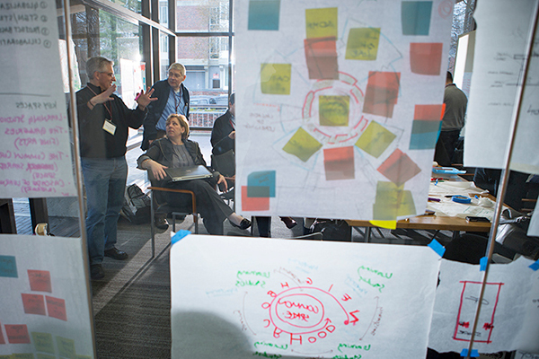 Educators in a working session