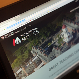 A screenshot of the Instructional Moves website featuring the logo