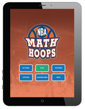 Math hoops video game