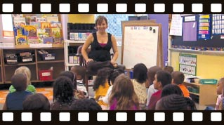 American Teacher still frame of classroom teacher and students