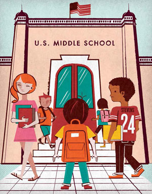 middle school illustration